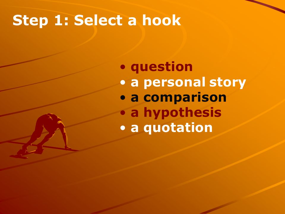 Step 2: Identify a general theme of your essay: Goals and dreams Being true to oneself Self- respect honesty Work ethic Personal responsibility