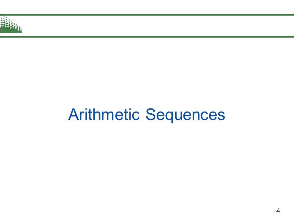 4 Arithmetic Sequences