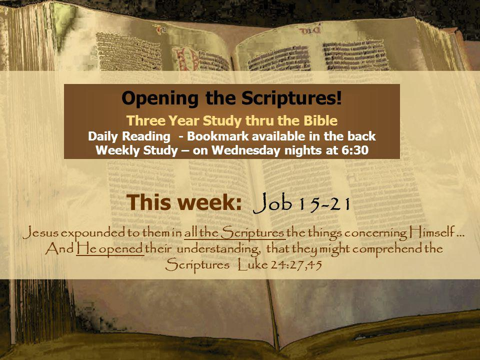 Opening the Scriptures.