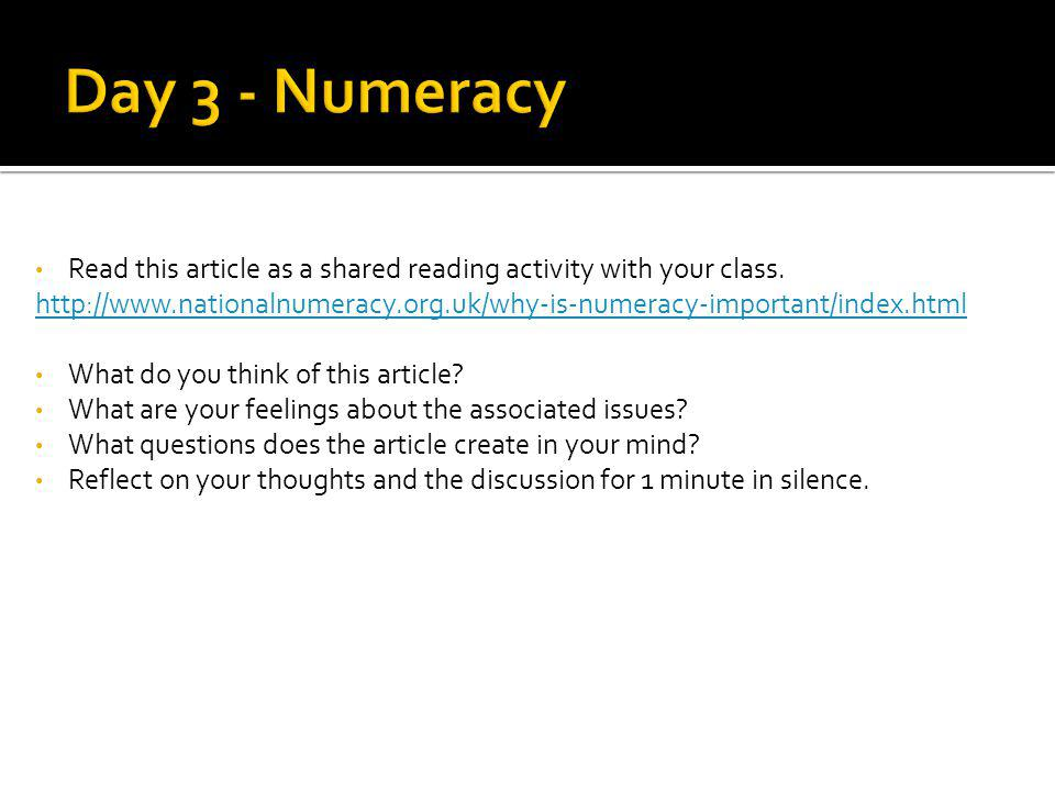 Read this article as a shared reading activity with your class.