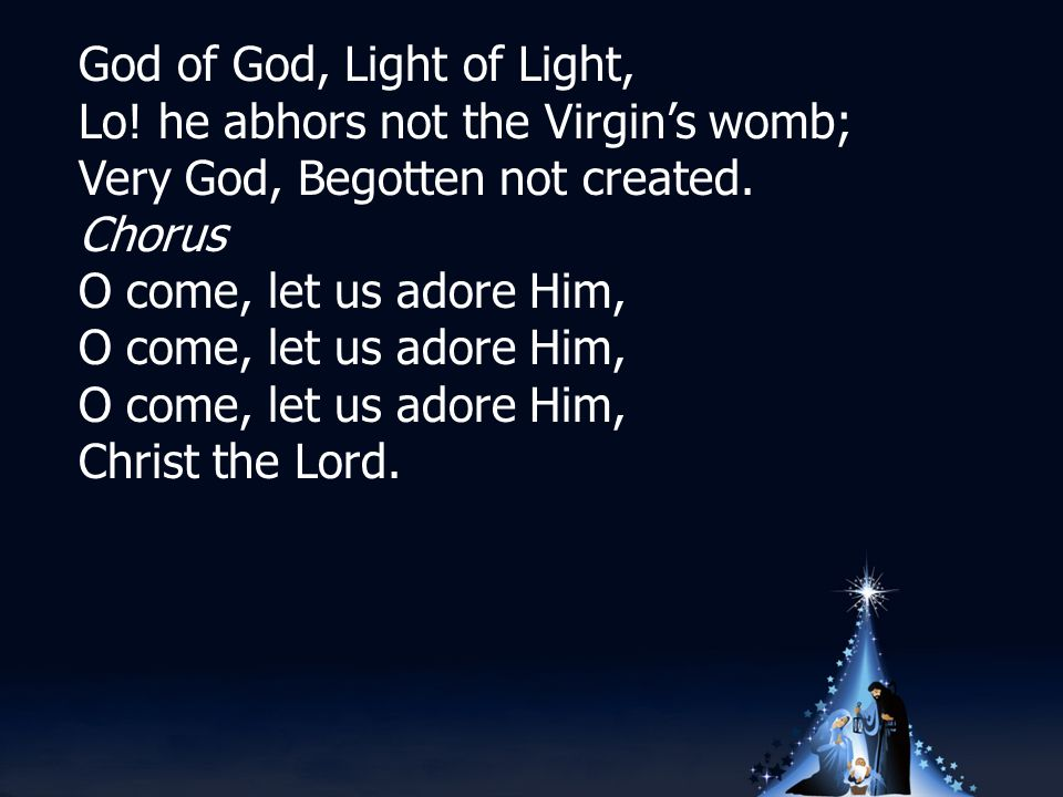 Silent night, holy night Son of God, love s pure light Radiant beams from Thy holy face With the dawn of redeeming grace Jesus, Lord, at Thy birth