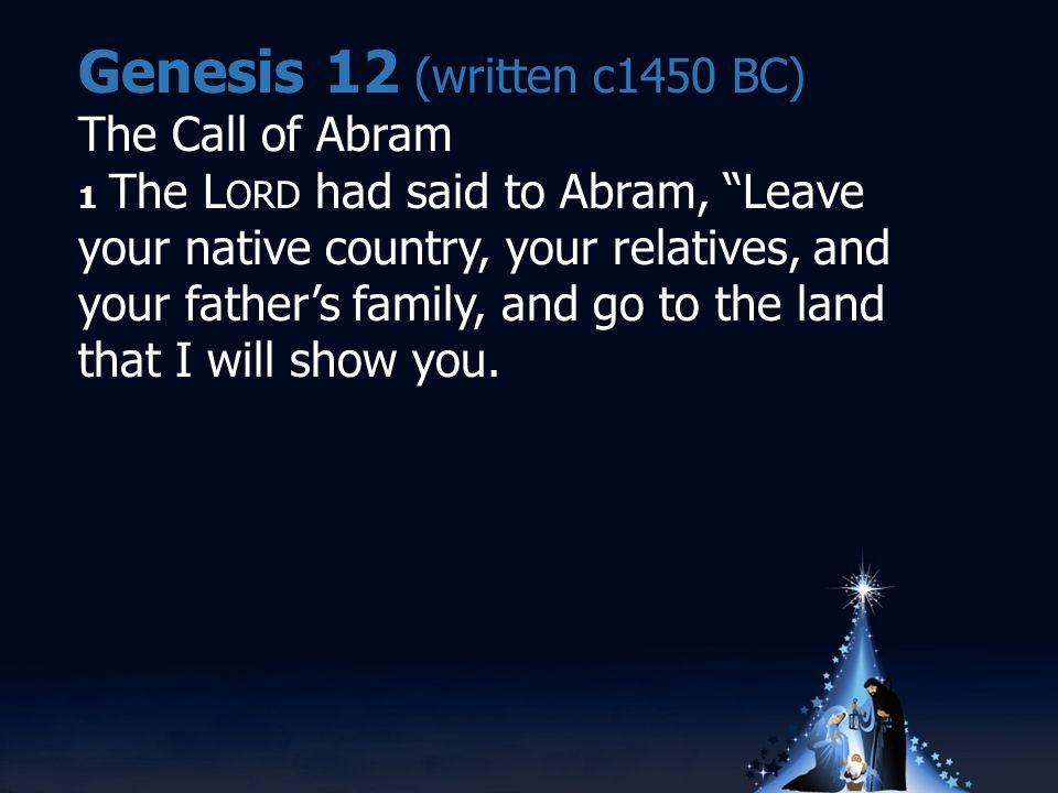 Luke 2 Let's go to Bethlehem.