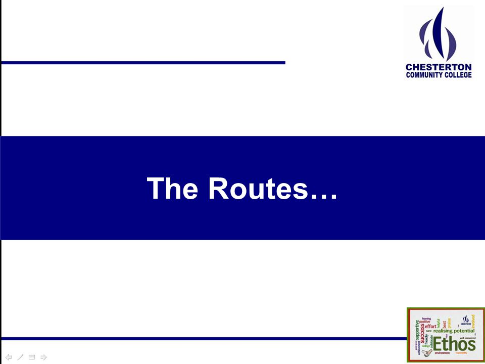 The Routes…