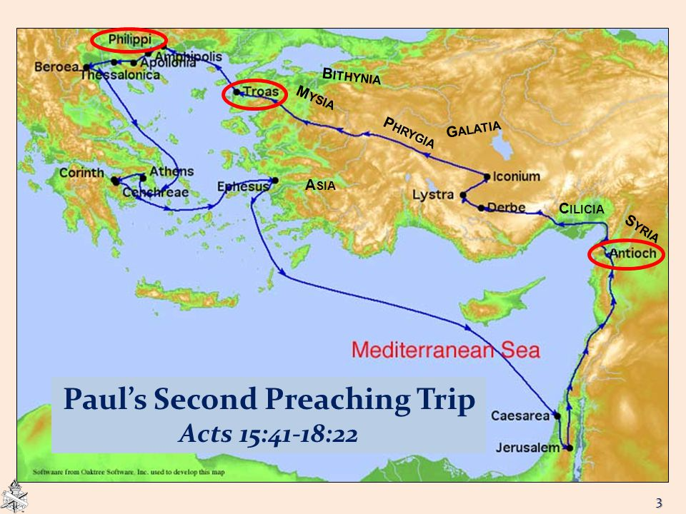 G ALATIA M YSIA B ITHYNIA A SIA P HRYGIA Paul's Second Preaching Trip Acts 15:41-18:22 S YRIA C ILICIA 3