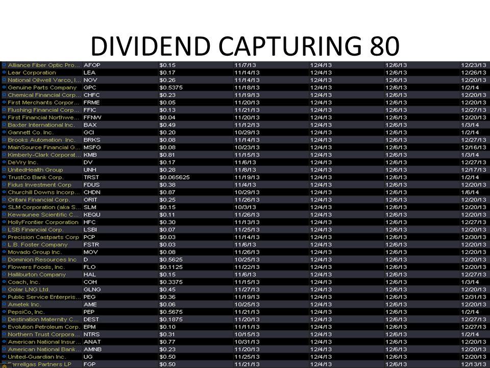 DIVIDEND CAPTURING 80