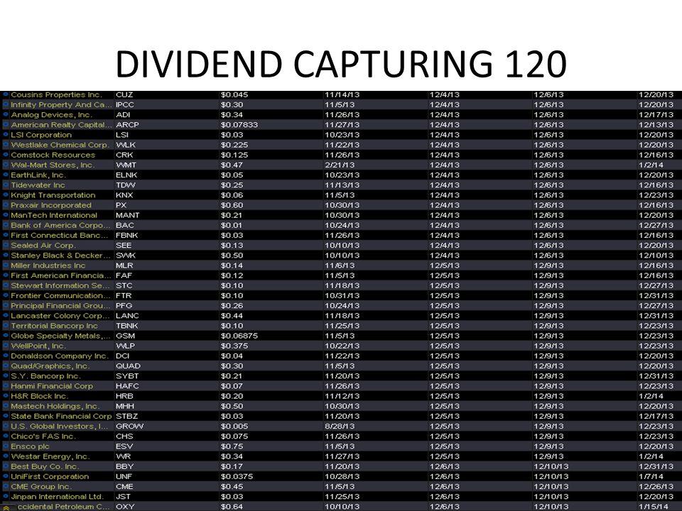 DIVIDEND CAPTURING 120