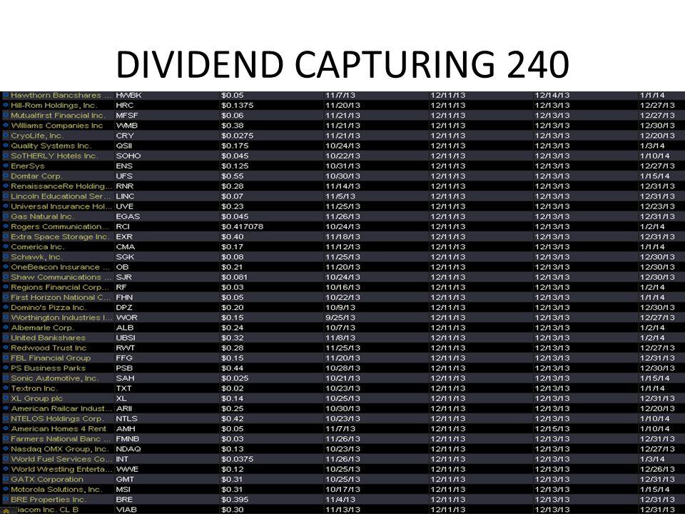 DIVIDEND CAPTURING 240