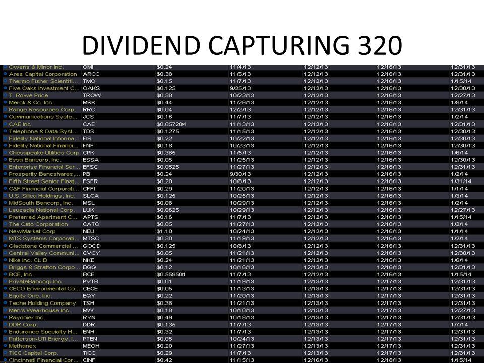 DIVIDEND CAPTURING 320