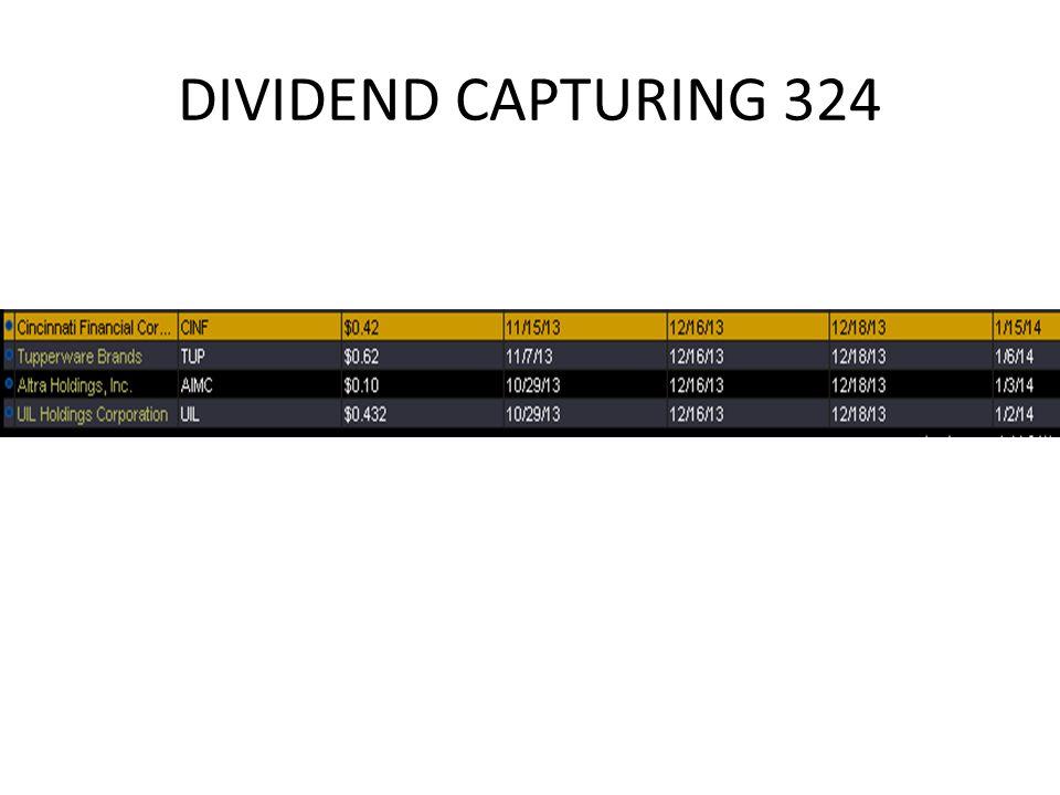 DIVIDEND CAPTURING 324
