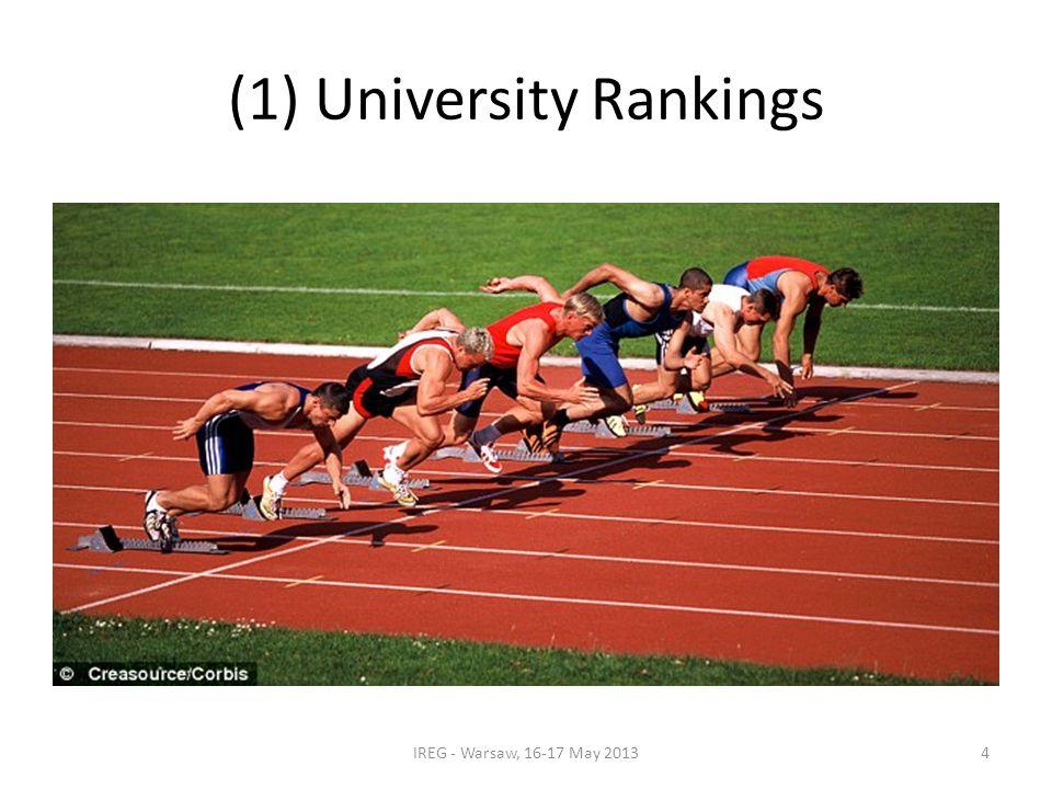 (1) University Rankings IREG - Warsaw, 16-17 May 20134