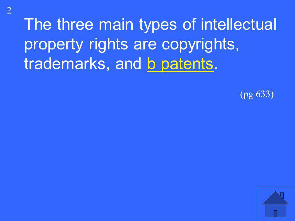 ________ are the legal rights to which creators of intellectual property – original creative works – are entitled.