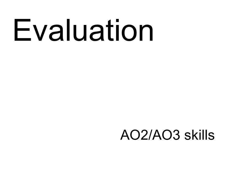 AO2/AO3 skills Evaluation