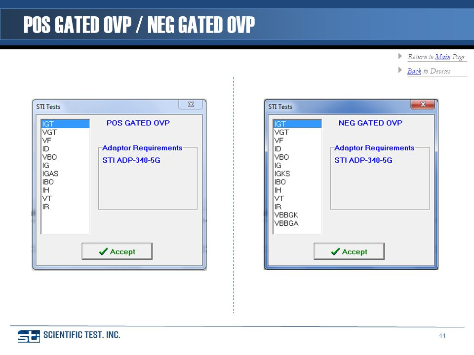 POS GATED OVP / NEG GATED OVP BackBack to Devices Return to Main PageMain 44