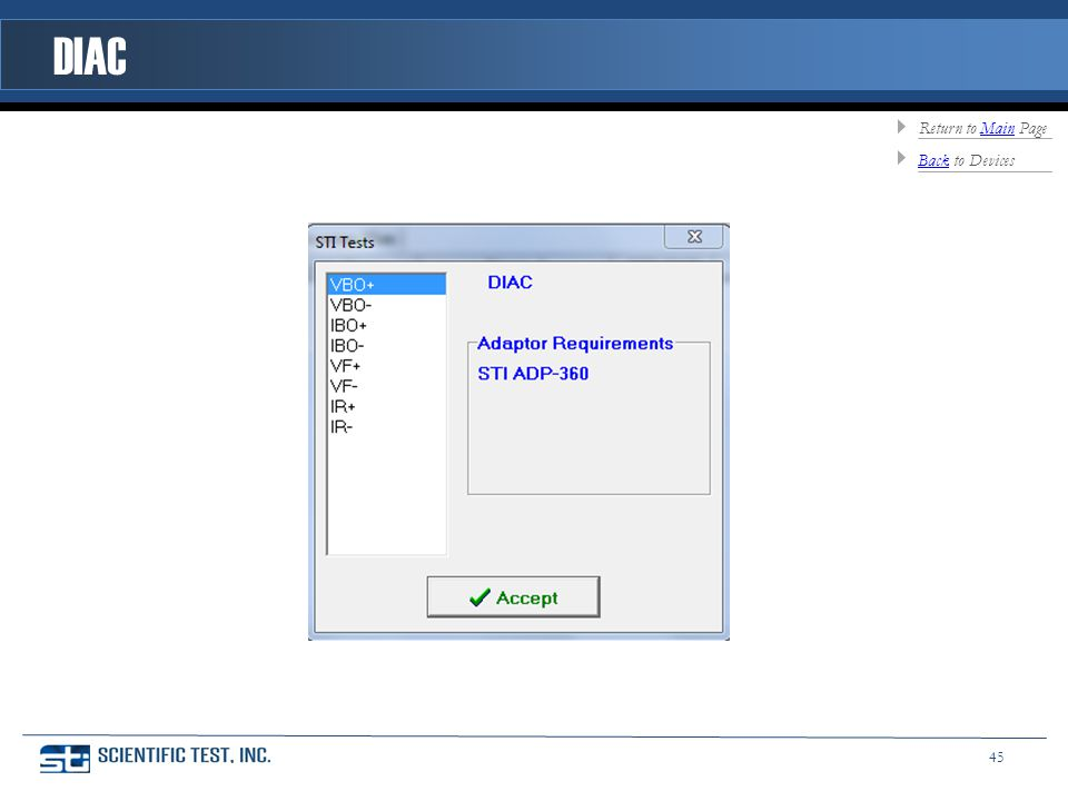 DIAC BackBack to Devices Return to Main PageMain 45