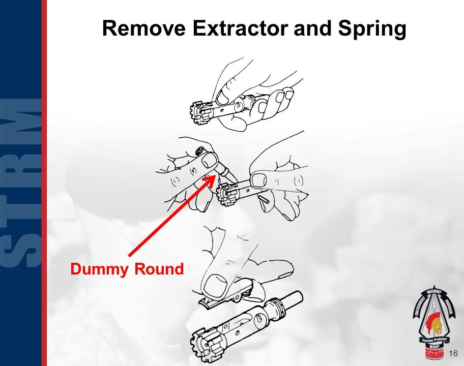 16 Remove Extractor and Spring Dummy Round