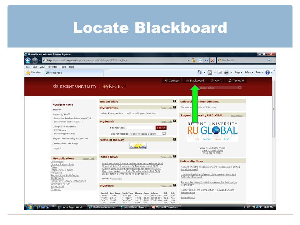 Locate Blackboard