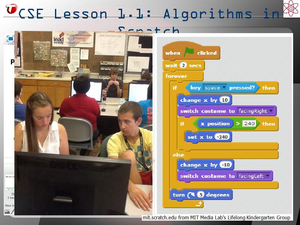 CSE Lesson 1.1: Algorithms in Scratch