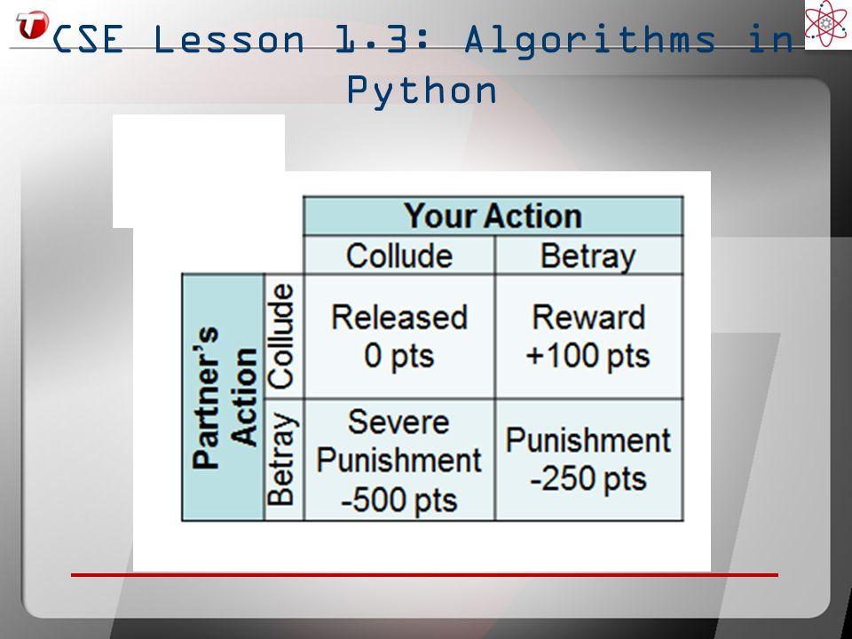CSE Lesson 1.3: Algorithms in Python