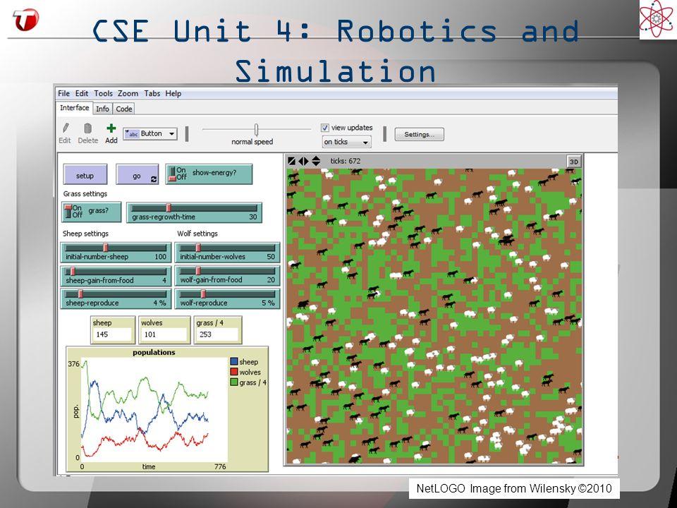 CSE Unit 4: Robotics and Simulation NetLOGO Image from Wilensky ©2010