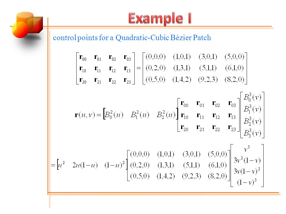 control points for a Quadratic-Cubic Bézier Patch