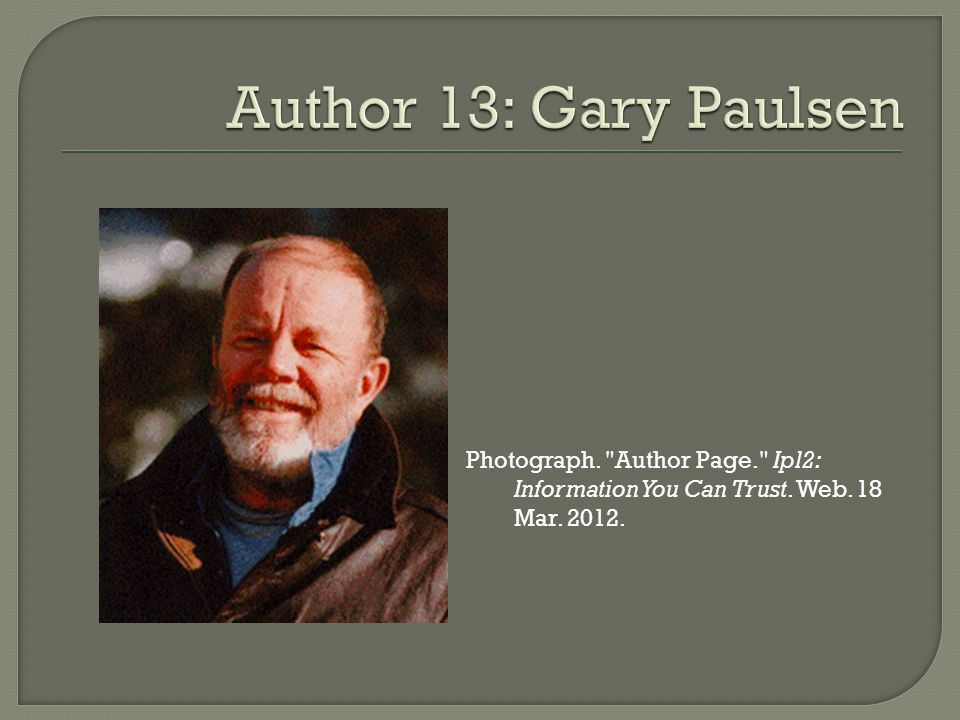 Photograph. Author Page. Ipl2: Information You Can Trust. Web. 18 Mar. 2012.