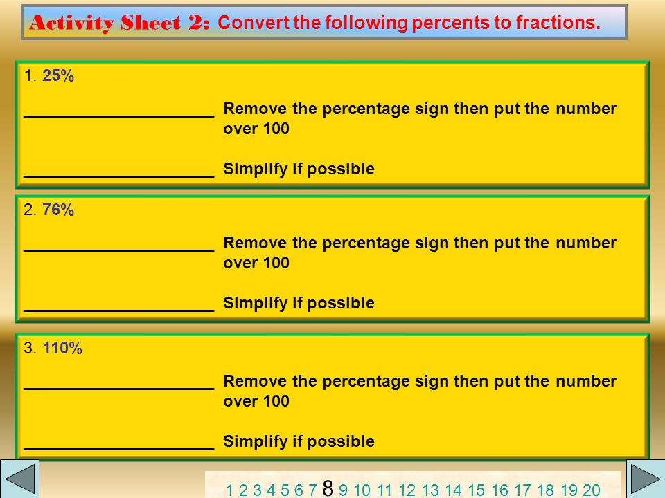 To learn about changing decimals to percentages CLICK ME.