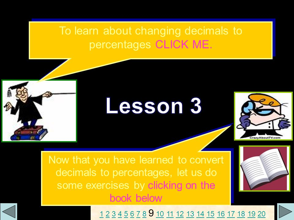 Activity Sheet 3: Convert the following decimals to percentages.