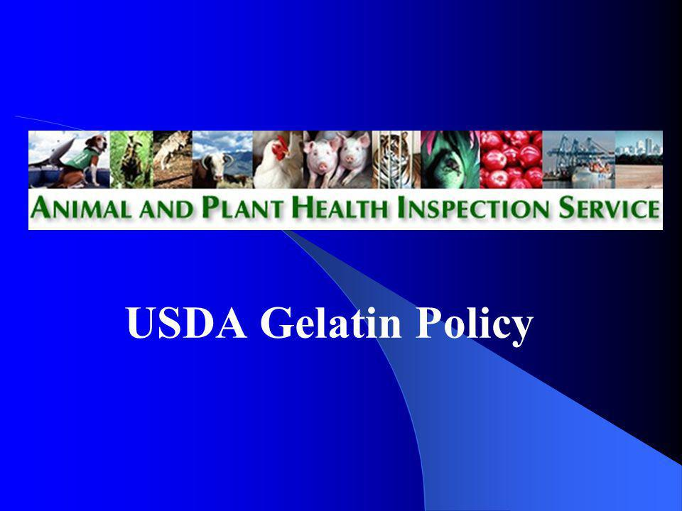 USDA Gelatin Policy