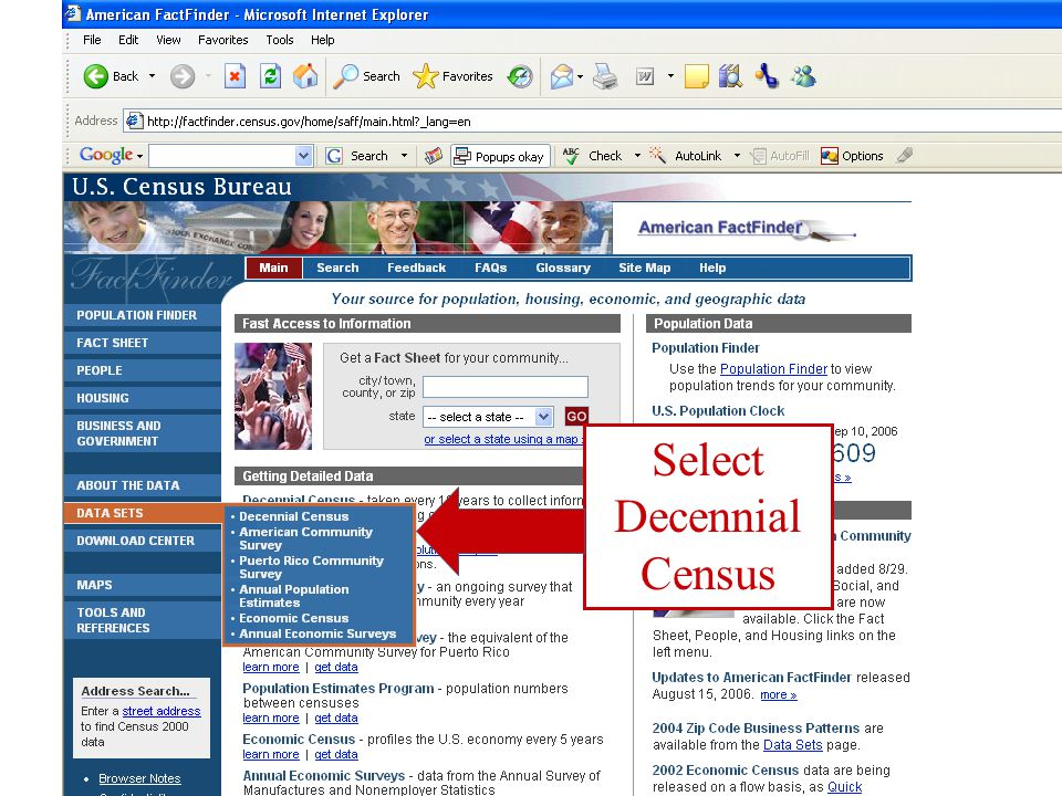 Select Decennial Census