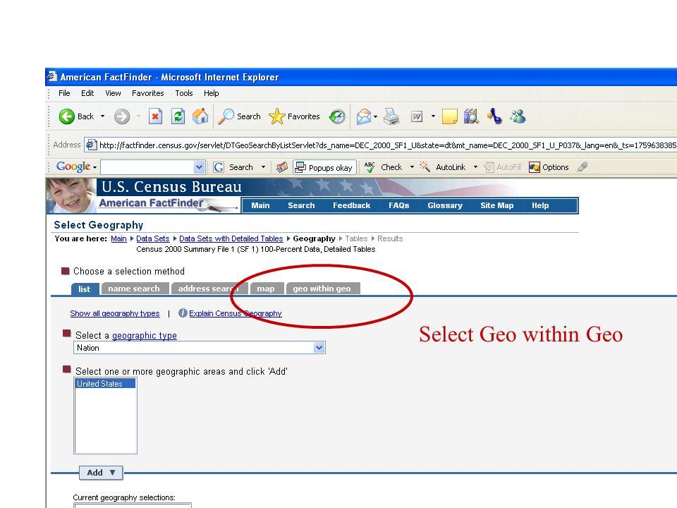 Select Geo within Geo
