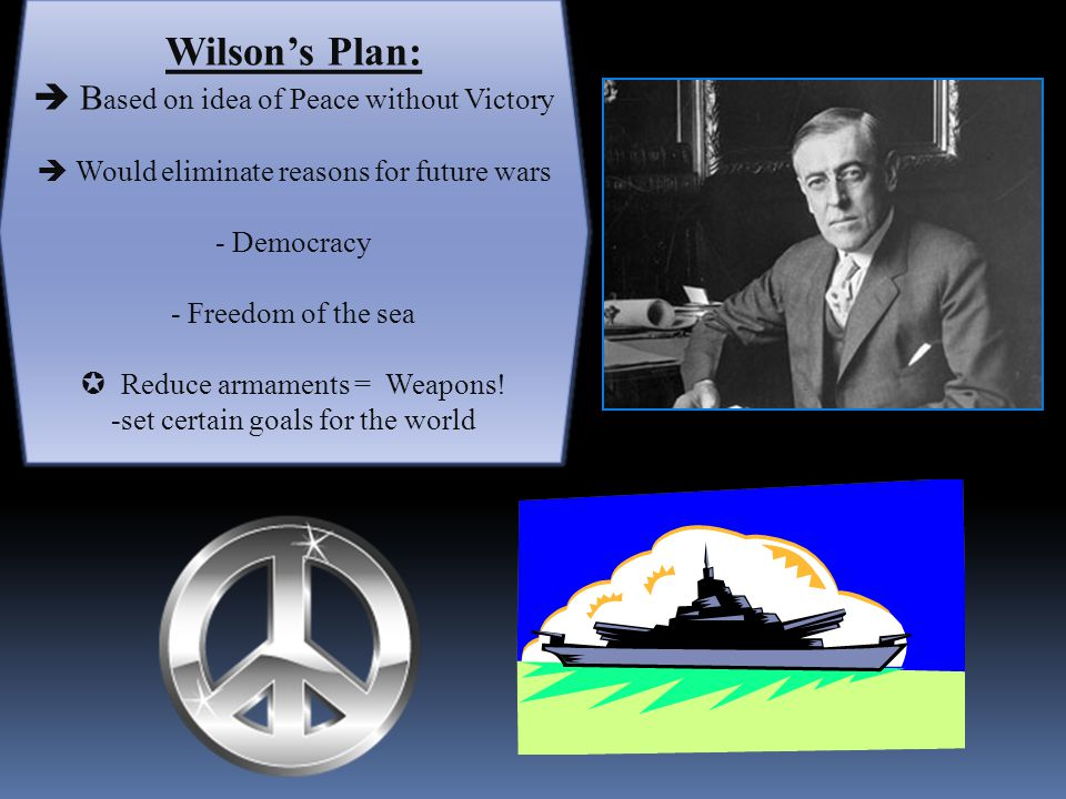 Wilson's Fourteen Points:  Wilson's speech that organized his ideas of the future  Described solution to prevent causes of the war 1.