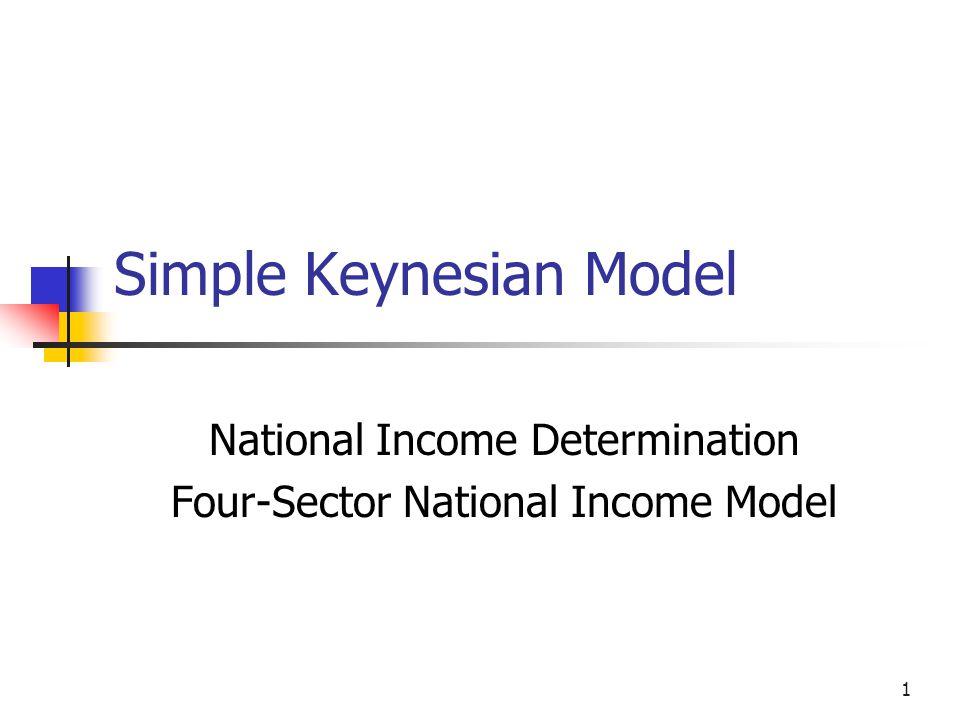 1 Simple Keynesian Model National Income Determination Four-Sector National Income Model