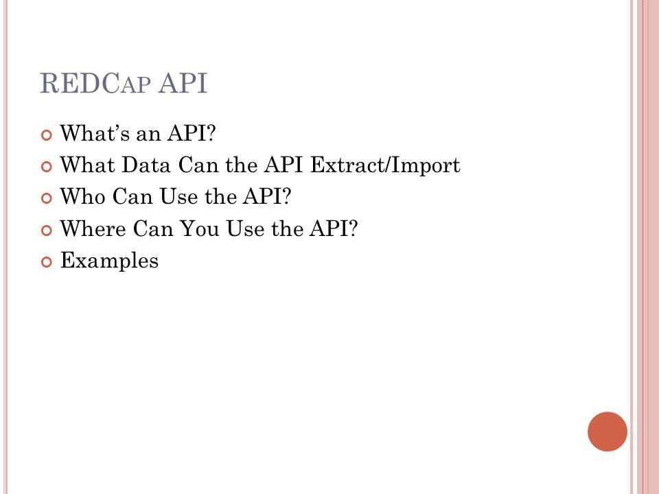 W HAT ' S AN API.