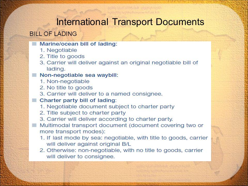 Transport Documents