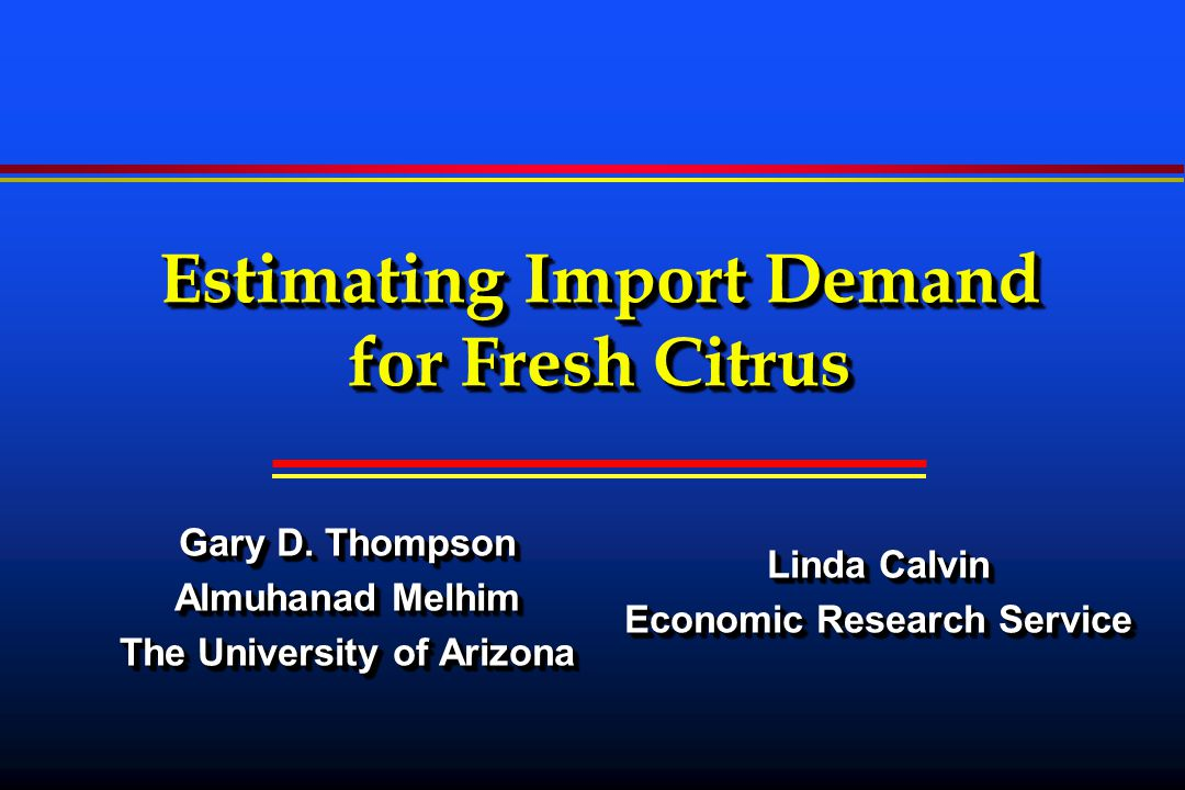 Why Study Import Demand.