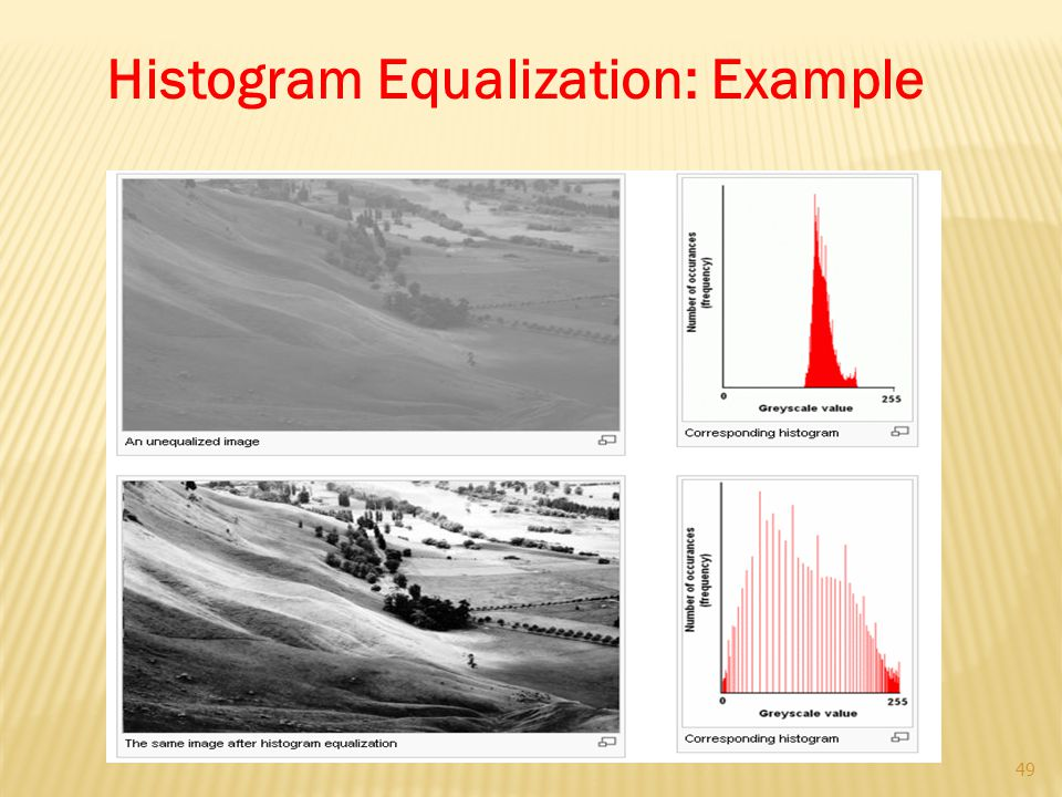 Histogram Equalization: Example 49