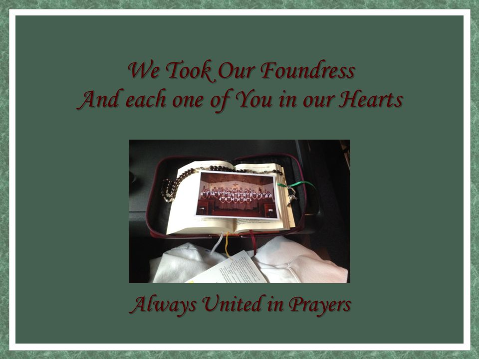 Father Camilo Remembers our Foundress With Great Love