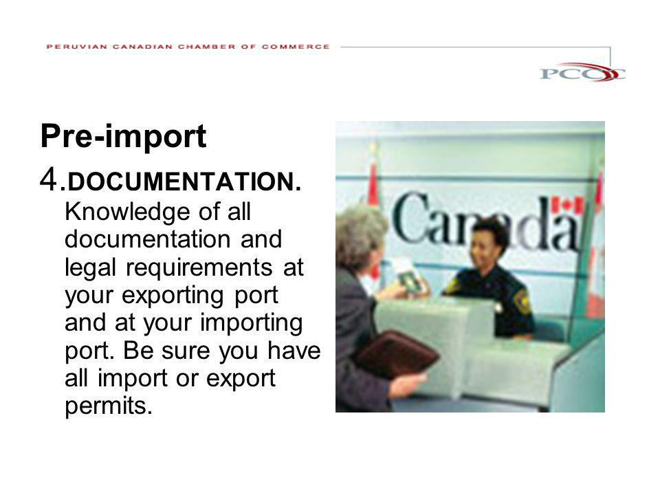 1. Pre-import Pre-import 4. DOCUMENTATION.