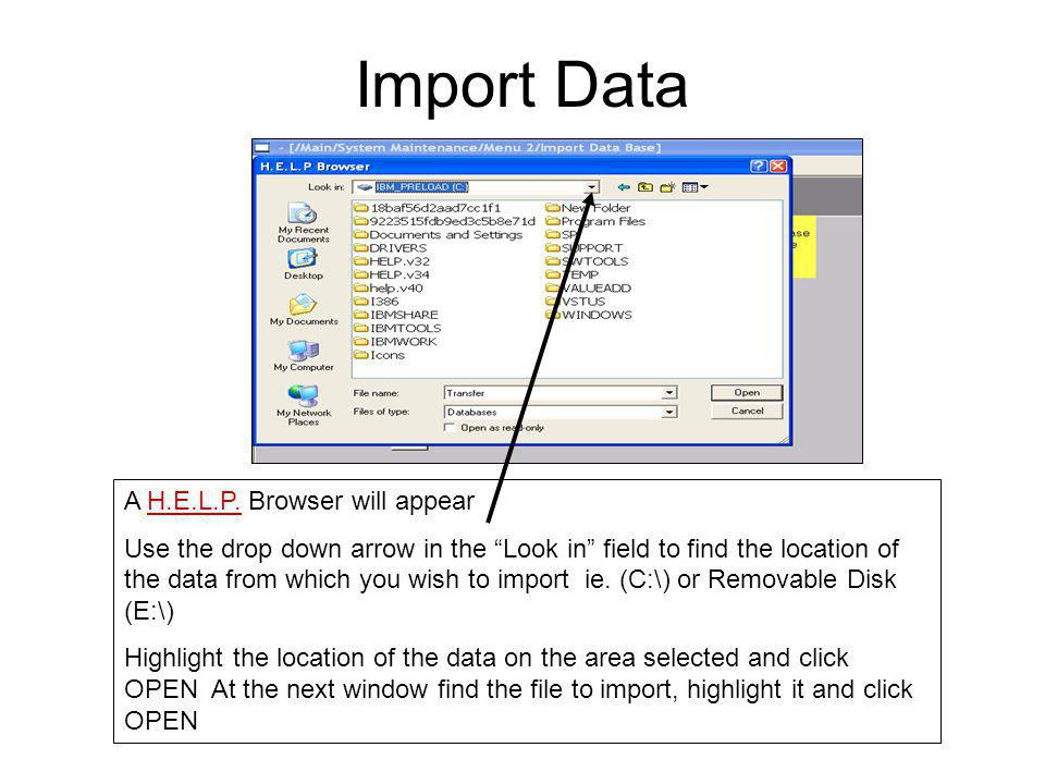 Import Data A H.E.L.P.