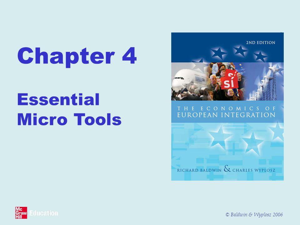 © Baldwin & Wyplosz 2006 Chapter 4 Essential Micro Tools