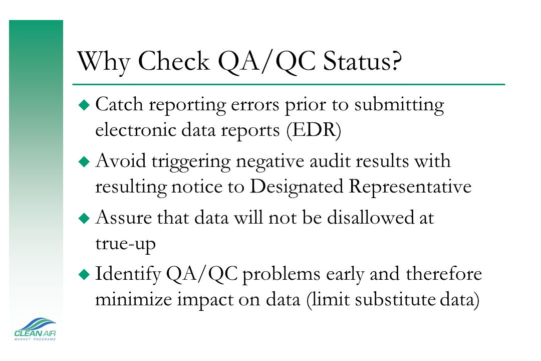 Step Five: MDC Reports u Monitoring Plan Evaluation Report: Reports>Monitoring Plan Reports>Monitoring Plan Evaluation Report ã Will list monitoring plan errors using EPA review criteria u Monitoring Plan Printout: Reports>Monitoring Plan Reports>Monitoring Plan Printout ã Useful for verifying monitoring plan is correct and up-to-date u Certification and QA Test Report: Reports>Certification and QA Test Reports> Test Evaluation and Detail Report ã Provides a list of reporting or QA test calculation errors identified; and ã Provides a printout of the QA test information entered in and easy to read table