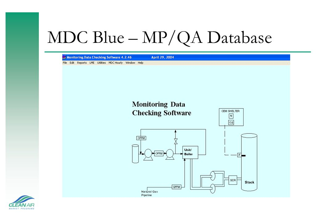 MDC Blue – MP/QA Database