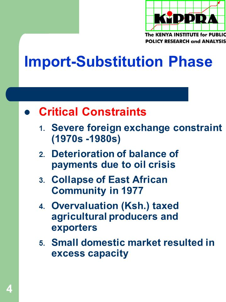 4 Import-Substitution Phase Critical Constraints 1.