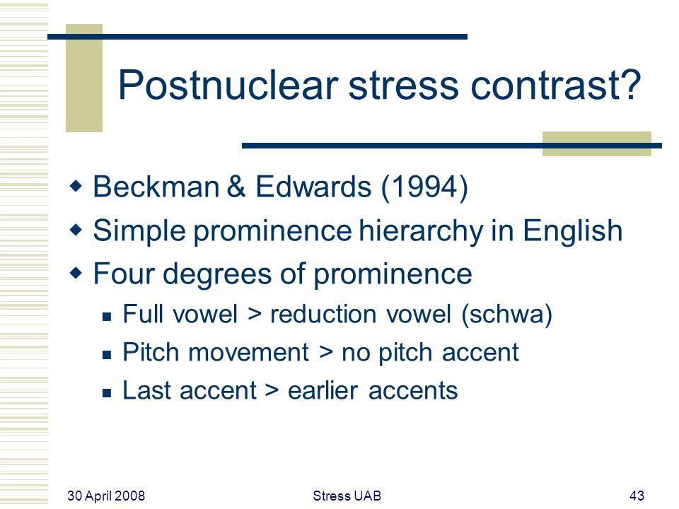 30 April 2008 Stress UAB43 Postnuclear stress contrast.