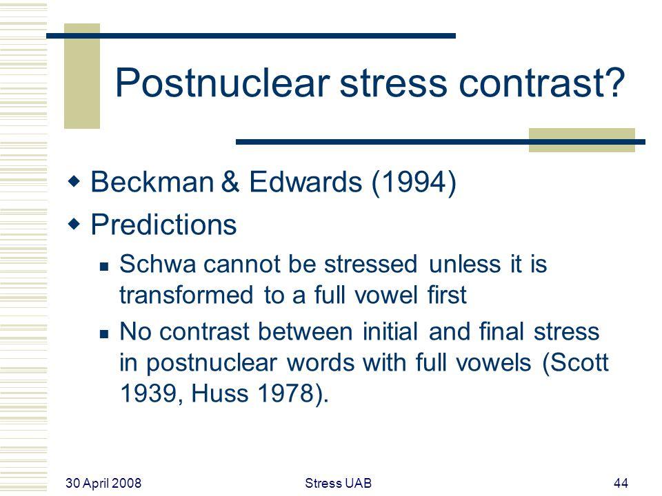 30 April 2008 Stress UAB44 Postnuclear stress contrast.
