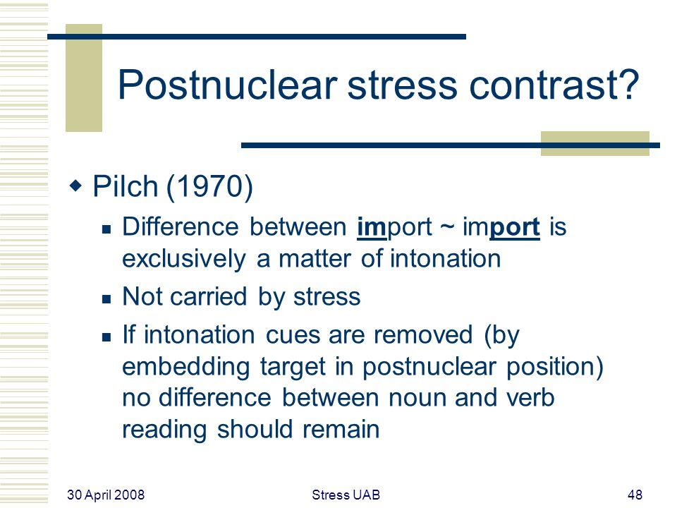 30 April 2008 Stress UAB48 Postnuclear stress contrast.
