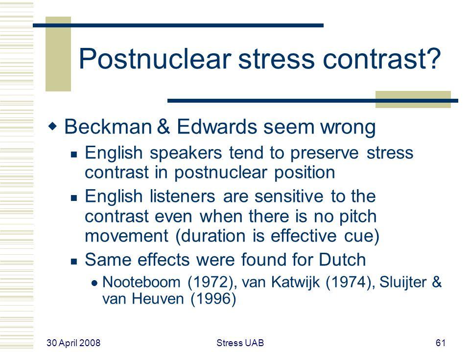 30 April 2008 Stress UAB61 Postnuclear stress contrast.