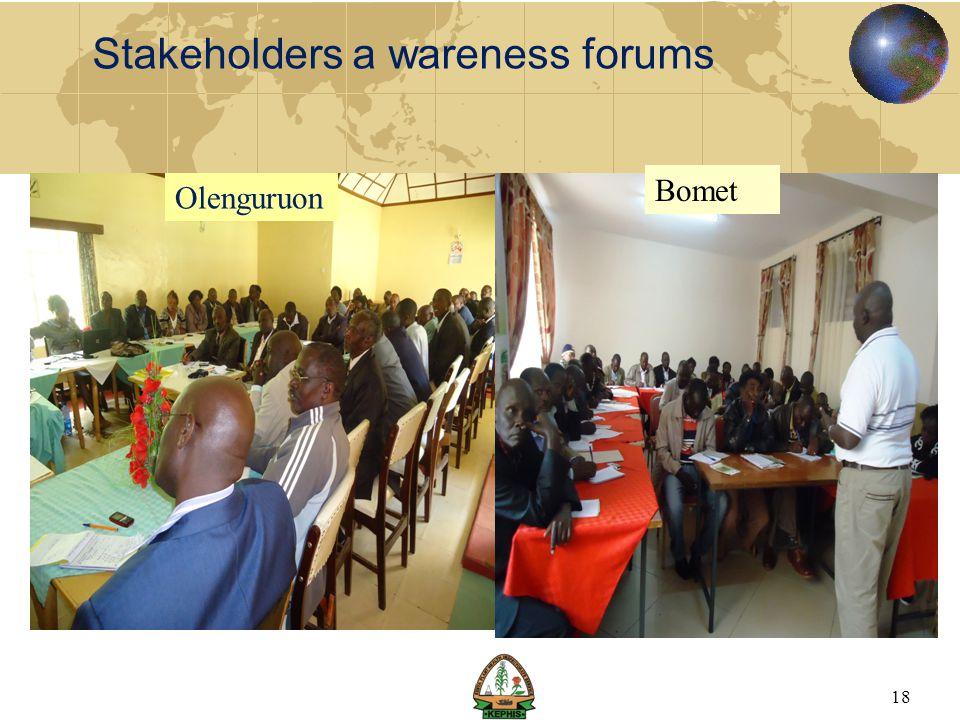 Stakeholders a wareness forums 18 Olenguruon Bomet