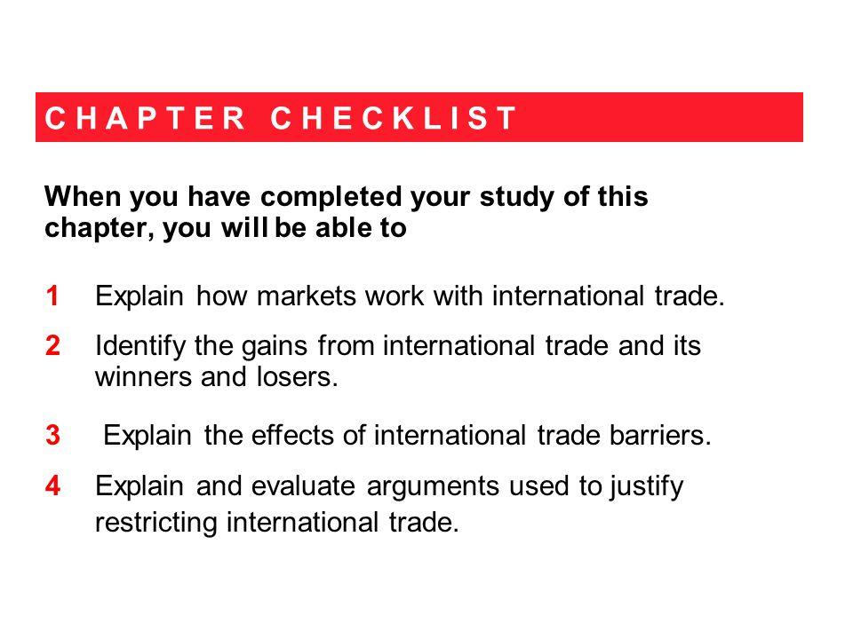 9.1 HOW GLOBAL MARKETS WORK Figure 9.2(a) shows that with no international trade, 1.
