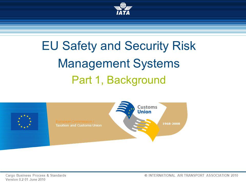 Cargo Business Process & Standards  INTERNATIONAL AIR TRANSPORT ASSOCIATION 2010 Version 0.2 01 June 2010 WCO SAFE Framework